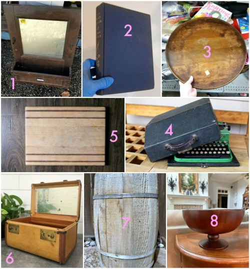 Thrift Store Decor team upcycling ideas from the thrift store March 2019 as seen on Sadie Seasongoods