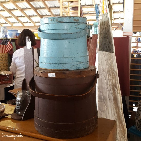 Firkin or Firkin bucket at Country Living Fair and Antiques Show