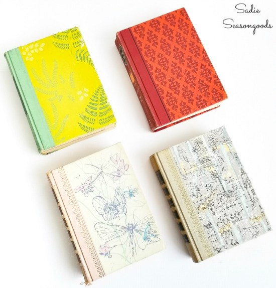 Old Reader's Digest books for upcycling crafts and home decor