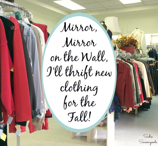 Thrift clothes and shopping for used clothing at thrift stores and consignment shops