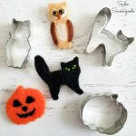 Halloween Cookie Cutters as Needle Felting Supplies