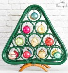 Retro Christmas Decor with a Wooden Wine Rack