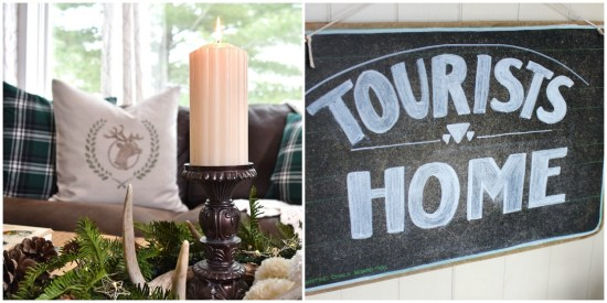 Lodge decor or modern rustic decor from thrifting and secondhand shopping