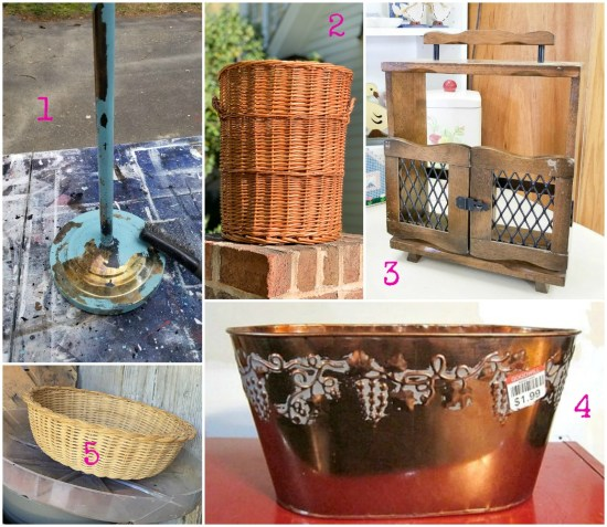 Thrift store transformations and upcycled project ideas from upcycling bloggers