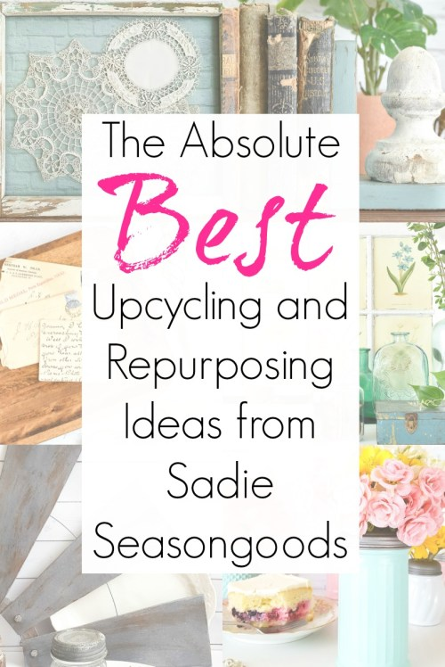 Upcycling ideas and repurposing projects for thrift store decor and transformations