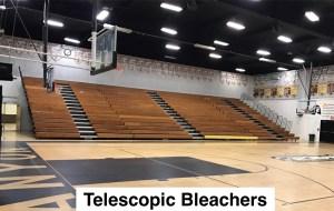 Telescopic bleacher risk management