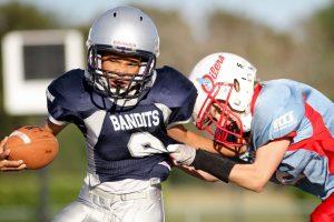 contact football brain injuries