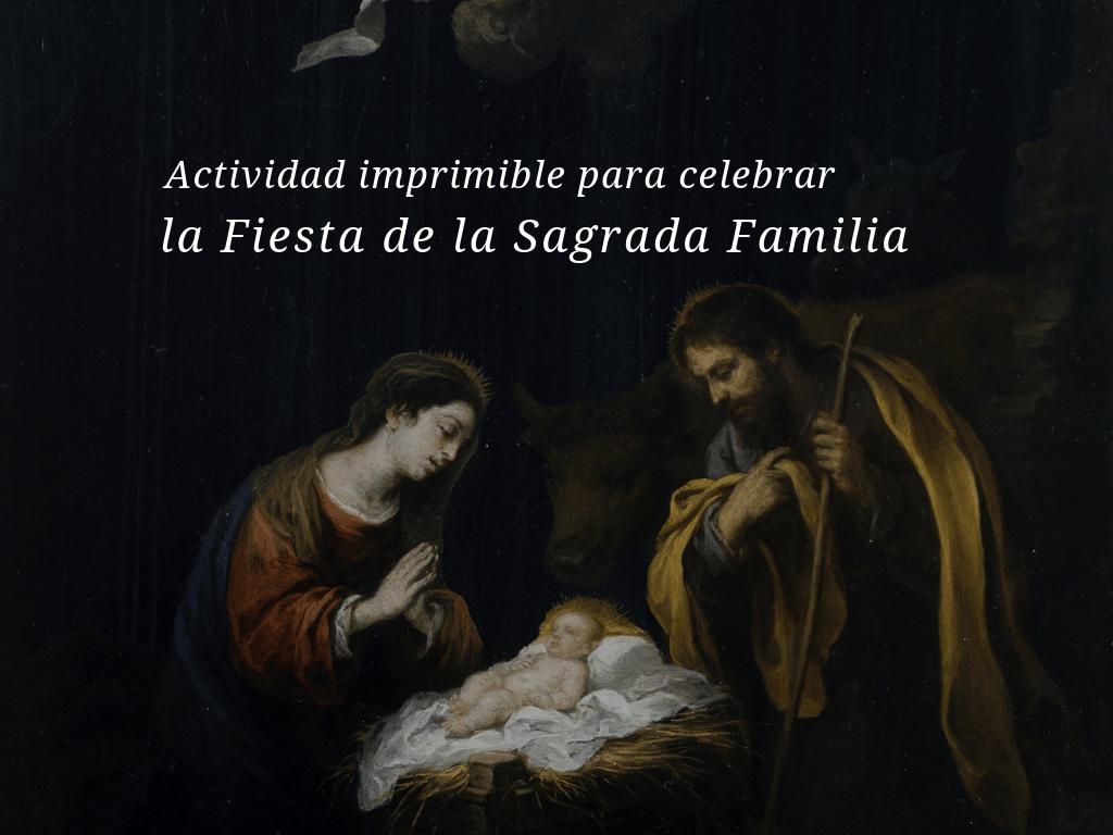 Actividad Imprimible Para Celebrar La Fiesta De La Sagrada