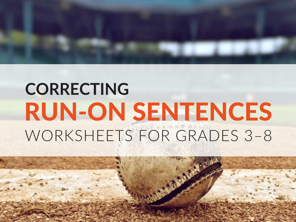 Run On Sentence Practice Activity For Students Grades 3 8