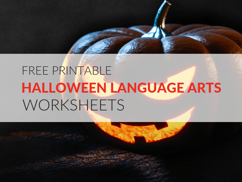 8 Printable Halloween Language Arts Worksheets
