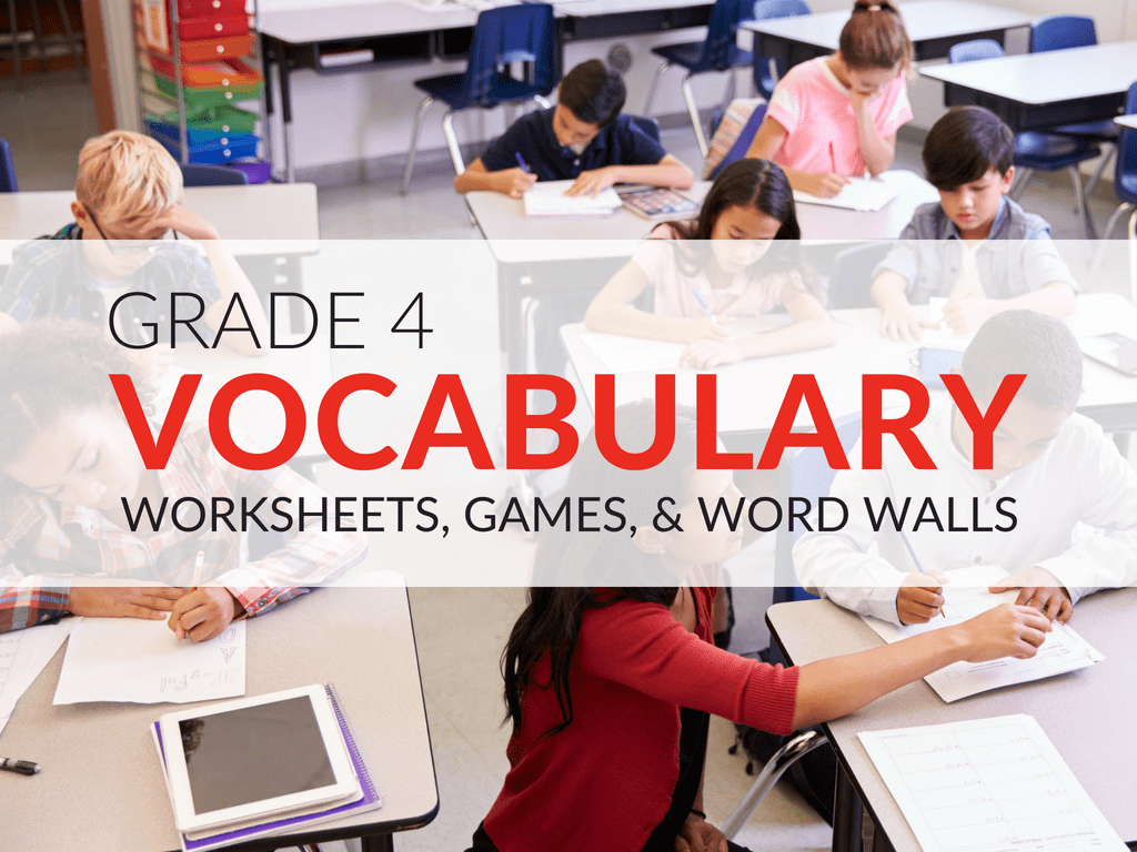 4th Grade Vocabulary Worksheets Games And Resources