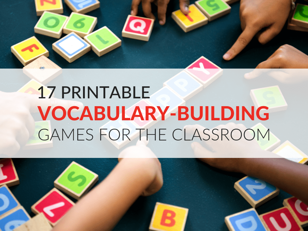 Printable Vocabulary Game That Are Wild