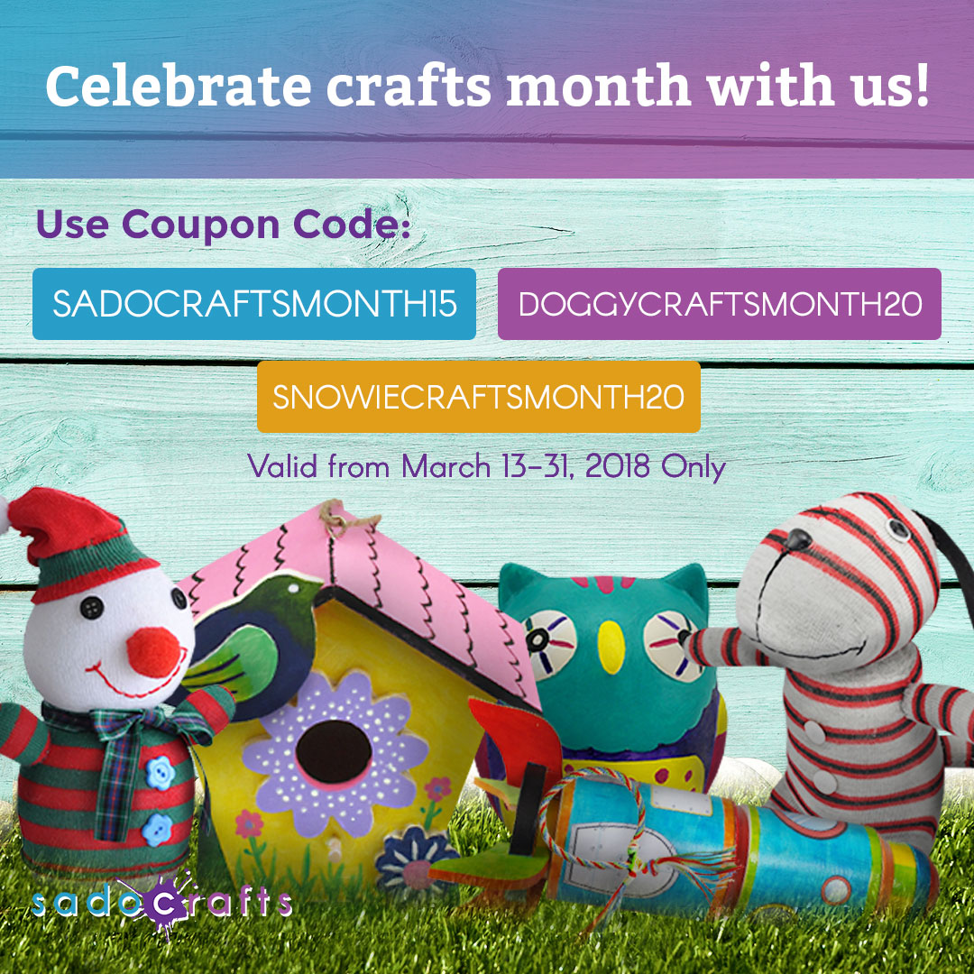 March : Sadocrafts Crafts Month