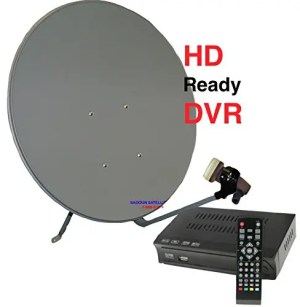 Stationary S-1 FTA Free To Air Ethnic Satellite TV System 1-Room Galaxy 19 (97W) 1-Room