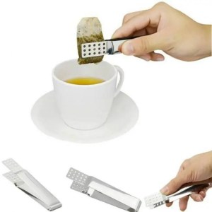FREE SHIPPING Stainless Steel Resistant Teabag Clip Quality Food Set Tong Squeezer Clip