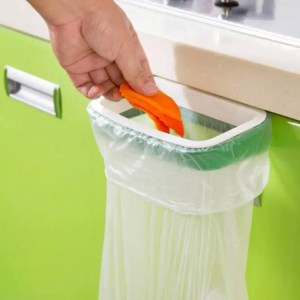 FREE SHIPPING Kitchen Organizer Cupboard Door Style Hanger Trash Garbage Storage BathroomAccessory