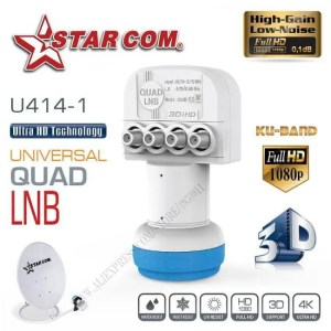 FREE SHIPPING Universal QUAD LNB For Satellite TV Receiver KU BAND  LNB For Satellite TV BOX U414-1 discount