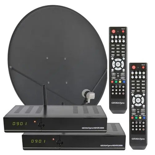 Stationary HD2  2-ROOM HDVR3500 FTA Free To Air satellite system Glorystar 1-Room
