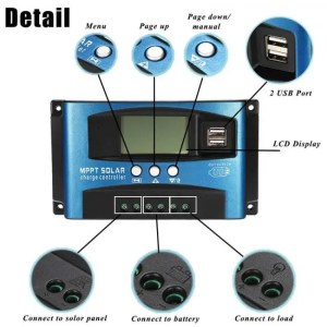 FREE SHIPPING 30/40/50/60/100A Solar Battery Charge Controller Regulator Dual USB LCD Display 12V 24V cleanenergy
