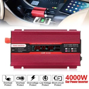 Accessories Voltage Transformer PEAK 4000W 12/24V To AC 220/110V Car Power Inverter USB Modified Sine Wave Converter Multiple Protect 12/24V