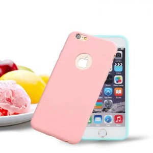 Phone Cases Original Soft Rubber Silicone Cases For iPhone Models Cute Candy Anti-knock Cover AntiKnock