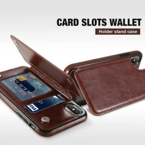 Phone Cases Retro PU Leather Case with Card Slot Holder For Samsung and iPhone Models Card