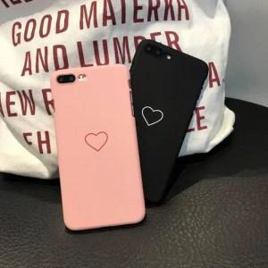 Phone Cases Cases For iphone 7 iphone XS Max iphoneXR iphoneX iphone8 Plus Heart Love Black Pink Case 7