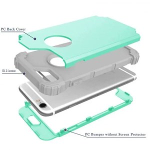 Phone Cases Shockproof Phone Cases For iPhone6 iPhone6S iPhone7Plus Durable PC+TPU 3 Layers Hybrid Full Body Protect 3