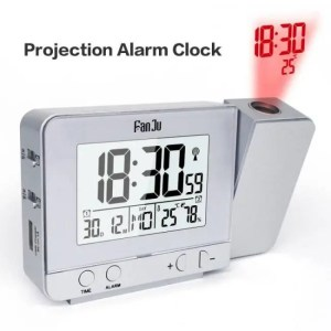 Clock Multifunctional Wireless Projection Alarm Clock With Temperature Humidity And Time Alarm