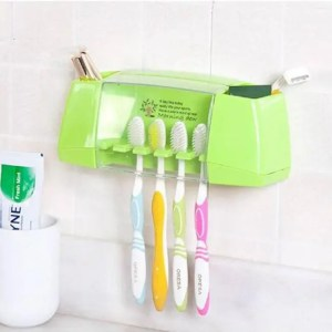 FREE SHIPPING BAISPO Multifunctional toothbrush tooth brush holder storage box with suction hooks Accessories