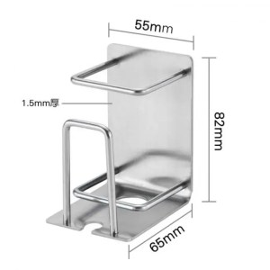 FREE SHIPPING Creative 304 Stainless Steel Mug Toothbrush Toothpaste Holder On The Wall 304 Stainless Steel