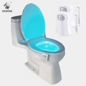 FREE SHIPPING Toilet Seat LED Light Human Automatic Lamp Motion Sensor Activated