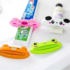 FREE SHIPPING Plastic Cartoon Dispenser Cleanser Toothpaste Squeezer Bathroom Accessories Piggy / Frog / Bear / Panda Accessories