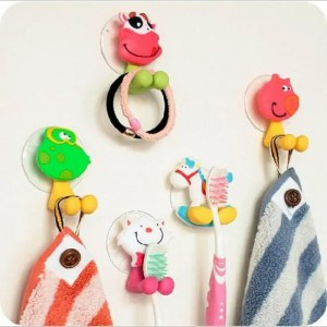 FREE SHIPPING Hello Kitty Cartoon Suction Cup Toothbrush Holder Bathroom Accessories Set 24 colors 24 colors