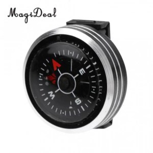 FREE SHIPPING Outdoor Watch Slip Slide on Navigation Wrist Compass for Survival Camping [tag]