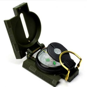 FREE SHIPPING LC-3 Military Style Lensatic Survival Hiking Emergency Compass angle