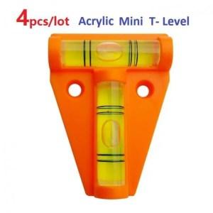 FREE SHIPPING Orange Acrylic T-Level Tool RV Camper Boat Console Table Measurement Mini Acrylic