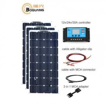 FREE SHIPPING 300w Mono-crystalline solar panels 12v DIY with 30A MPPT Charge controller kit RV 12V