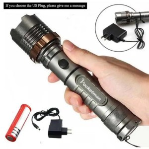 Flashlights & Lightings LFL-3  T6 LED Torch Aluminum alloy Zoomable Tactical Defense Flashlight up to 8000 lumens Battery