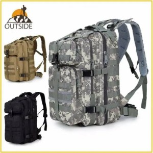 FREE SHIPPING 35L Waterproof Hiking Backpack for Outdoor Camping Army