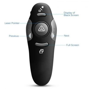 Controls kebidu 2.4 GHz Wireless Remote Red Laser Presenter Pen USB RF PPT Powerpoint Presentation Remote Control Pointer 24