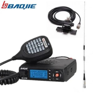 Walkie Talkie Baojie BJ-218 Dual Band Mobile Radio Transceiver 25Watts Long Range BJ218 Car Walkie Talkie Ham CB Radio+M507 Antenna package discount