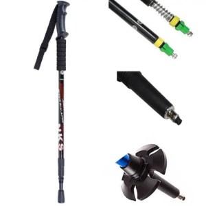 FREE SHIPPING Walking Sticks Ultralight Telescopic Trekking Hiking Poles Anti Shock
