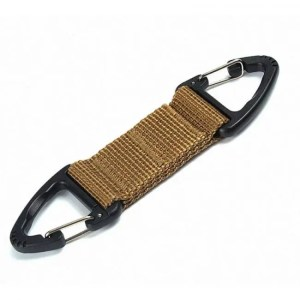 FREE SHIPPING Outdoor Molle Webbing Belt Clip Climbing Carabiner Buckle Belt Clip
