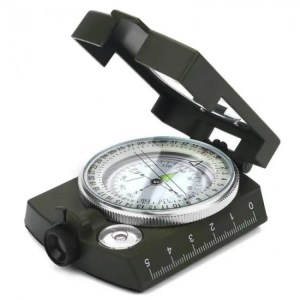 FREE SHIPPING Camping Survival Military Sighting Luminous Lensatic Waterproof Compass angle