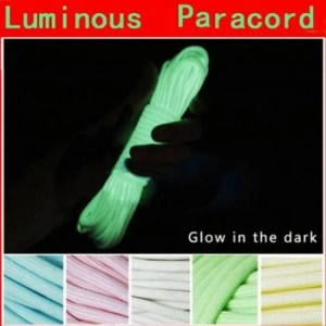 FREE SHIPPING 20FT 6 Meters Paracord Luminous Rope Camp Glow Parachute Cords Ropes Camping Equipment Camping