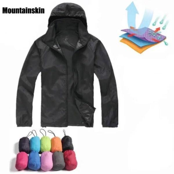 FREE SHIPPING Quick Dry Hiking Jackets Waterproof Sun-Protective Outdoor Sports Coats Windbreaker Coats