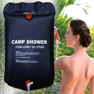 FREE SHIPPING 20L Water Bag Foldable Solar Energy Heated Outdoor PVC Shower Bag Water Storage camp