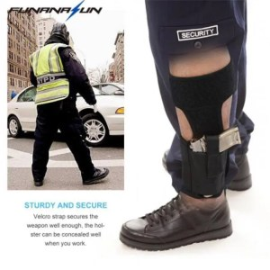 FREE SHIPPING Ankle Elastic Secure Strap Leg Concealed Carry Pistol Gun Holster Ankle
