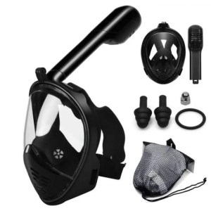 FREE SHIPPING Snorkeling Mask Underwater Scuba Anti Fog Full Face Mask Set with Anti-skid Ring Snorkel Anti